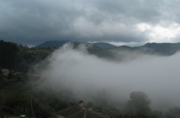 Fog in Lucky, Bulgaria