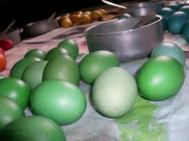 green easter eggs