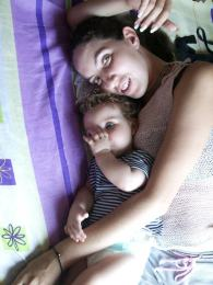My sister and her daughter