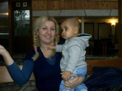 Me and my son in February