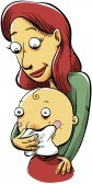 16976863-a-cartoon-mother-wipes-her-toddler-s-nose
