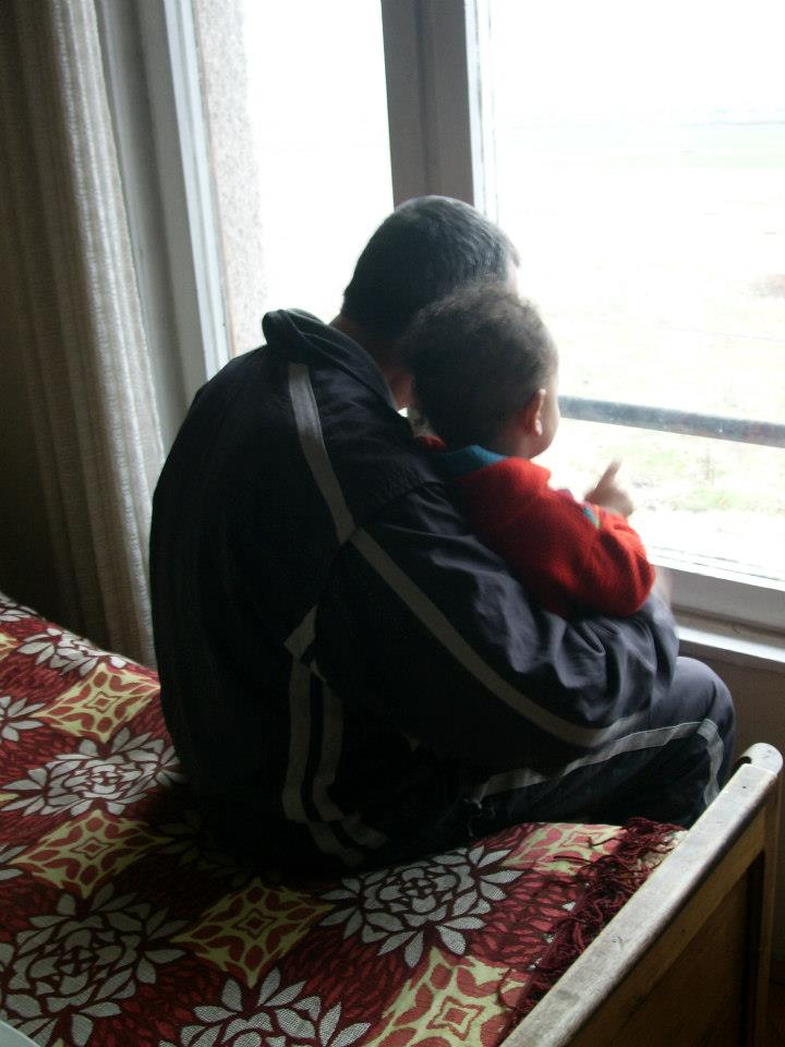 My son and my father at rest