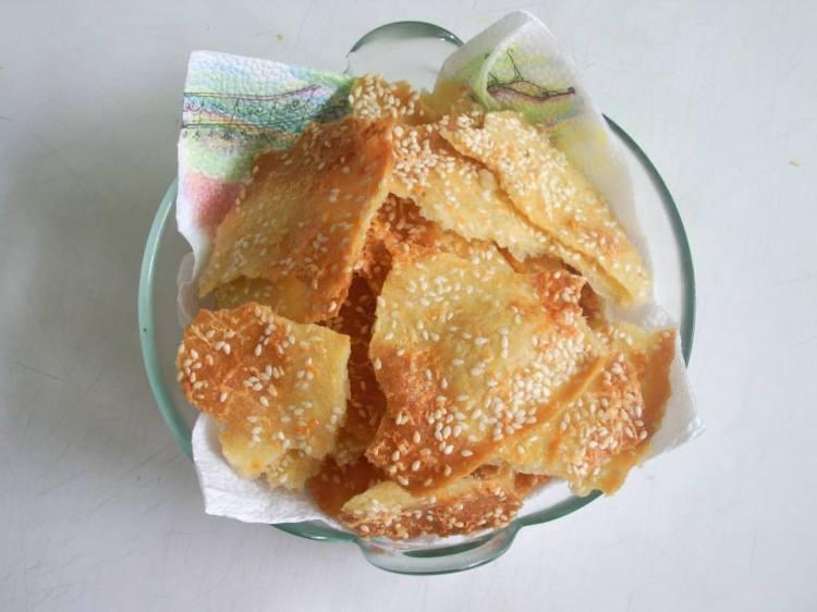 Солени домашни крекери