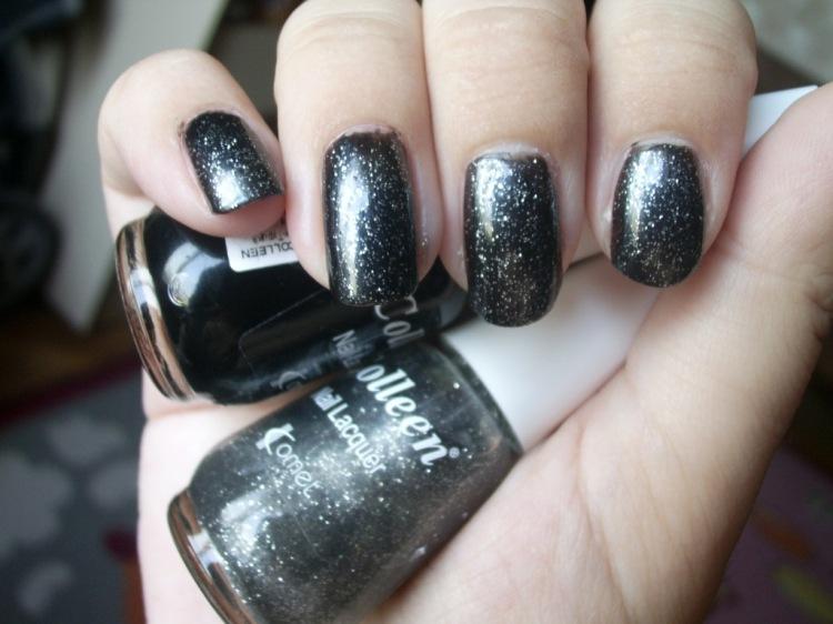 Черно и брокат