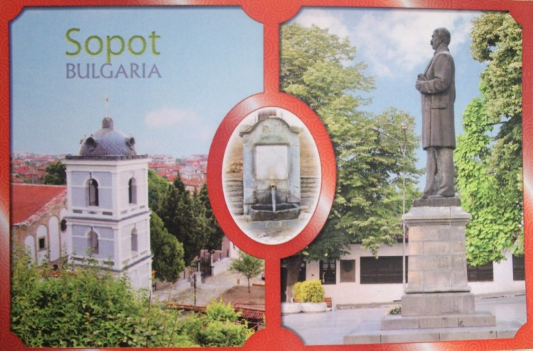 Two views Sopot, postcard