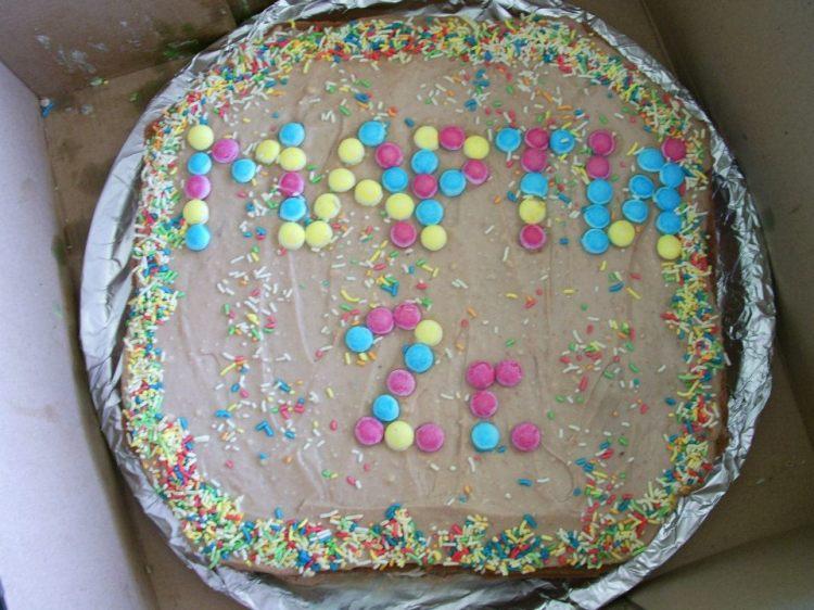 Домашна торта за втория рожден ден на Симон Мартин