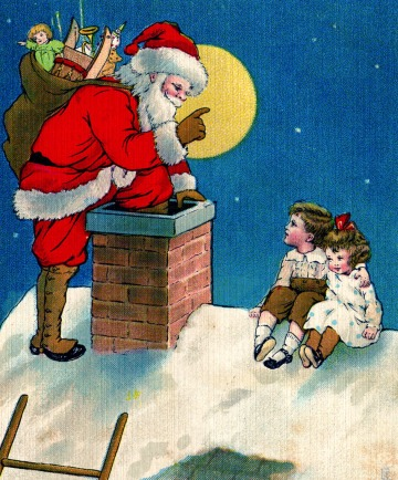 santa+chimney+vintage+image+graphicsfairy4d