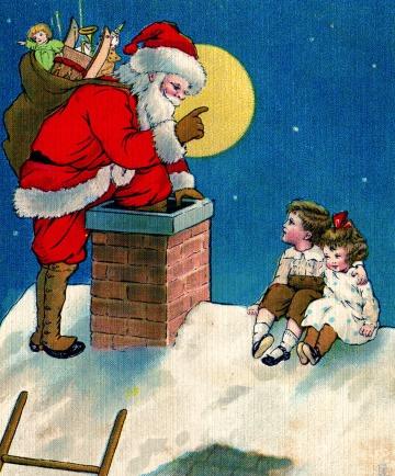 santa+chimney+vintage+image+graphicsfairy4d