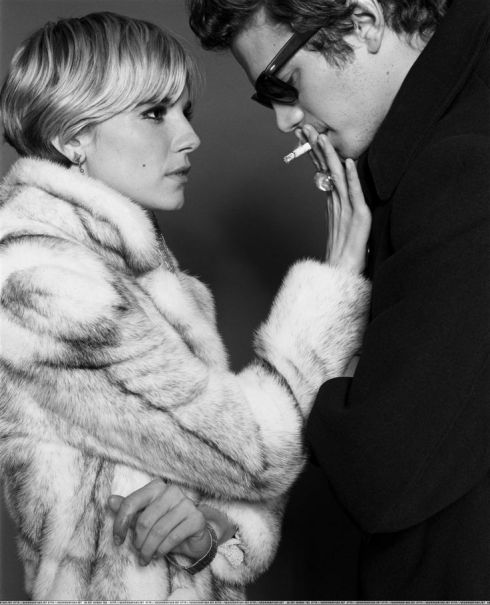 hayden christensen and sienna miller, smoking, factory girl