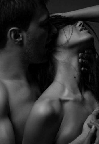 couple kiss neck